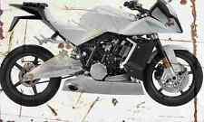 KTM RC8 Venom 2005 Aged Vintage SIGN A4 Retro