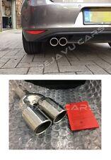 S line look Endrohr Edelstahl Auspuff blende Audi A1 A3 A4 a5 A6 A7 A8 Q3 Q5 Q7