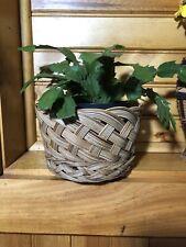Vintage Boho Bohemian Rattan Weaved Basket  Woven Rattan Planter 6x5x4