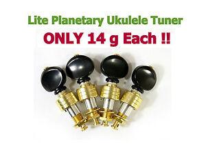 Ukulele Lite Planetary Tuning Pegs Tuner Gold Plated Surface 128G-UB@!