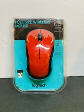 Logitech Full size LASER Wireless Mouse M310 RED