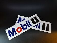 2 x Mobile 1 Stickers Race & Rally Car Stickers. 140mm x 35mm