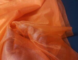 SPARKLE MESH - ORANGE or BLACK - NET FABRIC - COSTUMES & DECOR  - 150cm wide