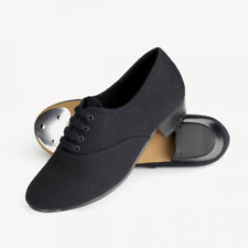 Mens / Boys Black Oxford low heel canvas Tap Shoes - all sizes