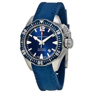 Hamilton Khaki Navy Frogman Automatic Blue Dial Men's Watch H77705345
