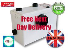 SteriFlux ® Macerator Sanitary Pump WC+2 Bath/Sink Water Waste  3 in 1 600W UK!