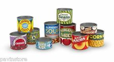 Melissa & Doug Grocery Cans, 10 Stackable Kids Toy, Kitchen Pantry Pretend Play