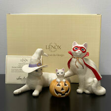 Lenox Feline Family's First Halloween Witch Vampire Jack O Lantern Cat Figurine
