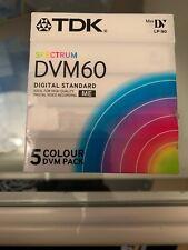 TDK Spectrum DVM 60 Mini DV Videocassetten 5er Pack