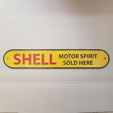 Cast Iron Shell Motor Spirit Wall Sign, authentic reproduction, brand new