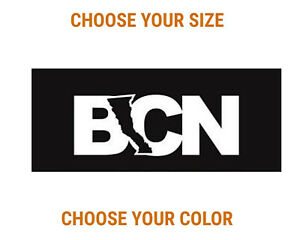 BCN Baja California Norte Mexico Vinyl Sticker Car Window Bumper Decal Truck
