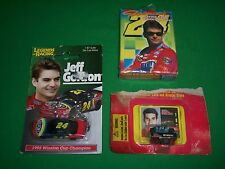 #24 Jeff Gordon 1:87 Die Cast Metal Keychain, Playing Cards & 1:144 Scale Car