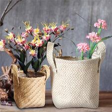 Cotton Linen Sundries Basket Hanging Storage Box Flowerpot Holder Home Organizer