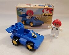 Vintage Lego Duplo Racing Car & Driver Set 2609 Original Box & Leaflet 1990