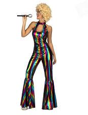 Déguisement combinaison disco rainbow femme Cod.329423