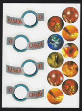 Canada Stamps — Pane of 4 — 1994, Greetings Booklet #1507-1508 — MNH