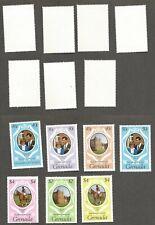 Grenadines of Grenada - Chuck & Di Wedding - Scott #1051-53 - Catalog $5 -  MNH