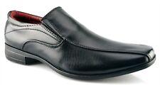 Men Gents Formal Dress Twin Gusset Slip on Shoes Black Sizes 5-14 School Smart