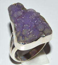 Grape Agate 925 Sterling Silver Ring Jewelry s.8 JJ11896