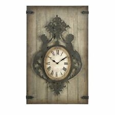 Gothic Iron on Wood Cherubs-Angels  Wall Clock,47.5''tall.