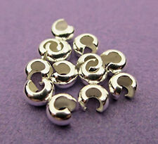 10 4mm Crimp Bead Covers Sterling Silver