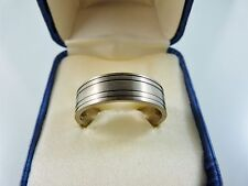 TITANIUM PLAIN SATIN WITH RINGS MENS RING SIZE 11 WEDDING OR ENGAGEMENT
