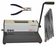 Coil Spiral Binding Machine,Metal Spiral Binder,Electric Insert+Pliers+300 Coils