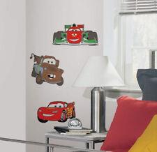 DISNEY CARS 3D foam wall stickers 3 self-stick pcs MATER MCQUEEN FRANCESCO decor