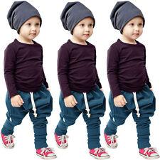 ENFANTS NOURRISSON garçon tenues vêtements t-shirt manches longues haut +