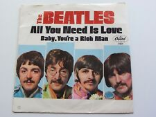 THE BEATLES  ORIG 1967  U.S.A.   ALL YOU NEED IS LOVE   PICTURE SLEEVE EXCELLENT