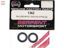 Serpent 1362 Cojinetes bola 12x21x0.5 mm (2) Rodamientos De Bolas PHQ modelado