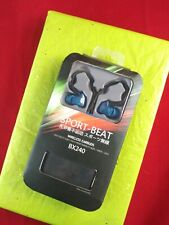 Wireless Bluetooth Sport Beat Bx240 Gym Earbuds Memory Wire with Mic & Bag