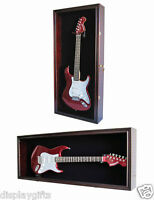 Electric Guitar Display Case Wall Cabinet Shadow Box, Measure before Buy