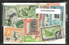 Nyassaland 25 timbres différents