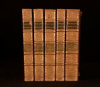 1816 5 Volumes Elegant Extracts in Prose Fine Binding