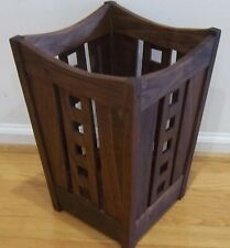 Mackintosh Solid Walnut Wastebasket