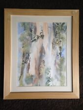 Original watercolor painting 'Reaching for the sky' by Win Norton, end 20th Cent