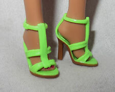 HS ~ SHOES BARBIE DOLL MODEL MUSE GREEN BARBIE BASICS SANDALS MATTEL HIGH HEELS