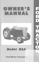 Ford NAA Tractor Owner Operator Instruction Manual