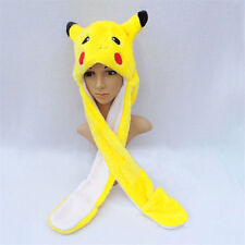 Anime Cartoon Trainer Pokemon Cute Pikachu Plush Hat Cap with Gloves Cosplay