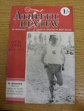 Aug-1951 Athletic recensione: Vol.5 No.4 - L'organo riconosciuto di atletica leggera in più elevata