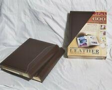 4 - Infinity Photo Albums - 300 Photos Each- Coffee Leather