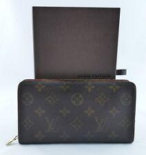 Authentic Louis Vuitton Monogram Bifold Brown Long Wallet #MI 8905