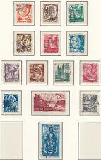 Franz-Zone Rheinland-Pfalz: 1948 MiNr. 16 - 29 Satz, gestempelt
