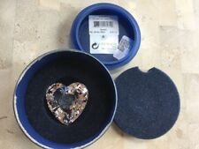 Swarovski Crystal Scs Heart 2007 Event Piece #0896979 New In Small Round Box