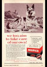 "1957 MOPAR CHRYSLER GENUINE PARTS AD A4 POSTER GLOSS PRINT LAMINATED 11.7""x8.3"""