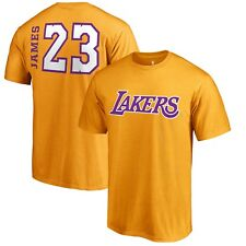 LeBron James Los Angeles Lakers Fanatics Branded Side Sweep T-Shirt Gold XXL
