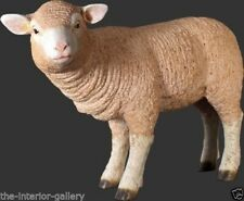 Lamb Statue - Small Lamb Statue - Standing Merino Lamb Statue - Merino Lamb