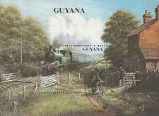 Timbres Trains Guyana BF93 o lot 9464 - cote : 15 €