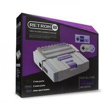 Hyperkin RetroN 2 2in1 Super Nintendo (SNES) / NES Retro Video Game Console Grey